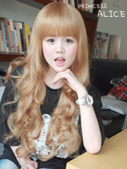 Premium Wig Princess Alice - Soft Curly Hair (Blonde)