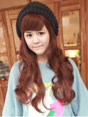 Premium Wig Sweet Spoon No1 - Soft Curly Hair (Red Brown)