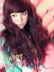 Premium Wig Happy Blythe - Soft Curly Hair (Red Wine)
