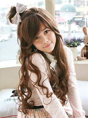 Premium Wig Sweet Honey - Soft Curly Hair (Honey Brown)