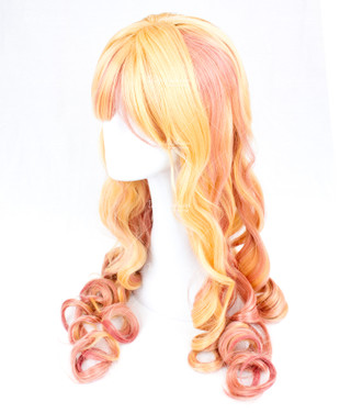 Blonde Pink Highlight Long 75cm
