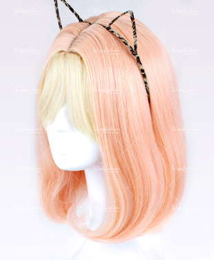 Two Tone Pink/Blonde Short Curly 35cm