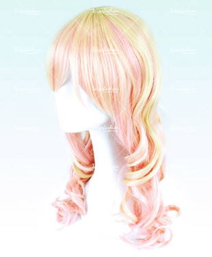 Two Tone Light Pinky/Yellow Long Wavy 60cm