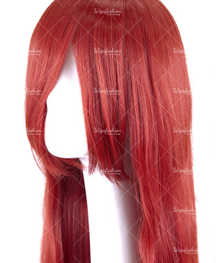 Dark Red Long Straight 90cm