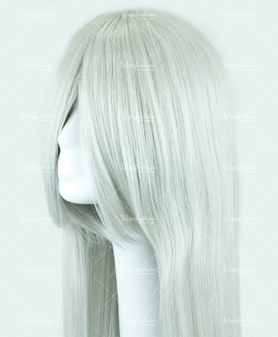 Silver Grey Long Straight 90cm