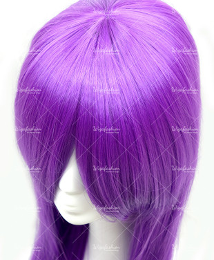 Bright Violet Long Straight 90cm