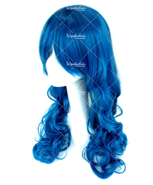 Navy Blue Wavy 65cm
