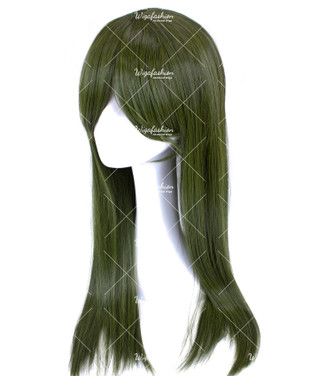 Dark Olive Green Long Straight 65cm