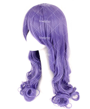 Indigo Violet Long Curly 70cm