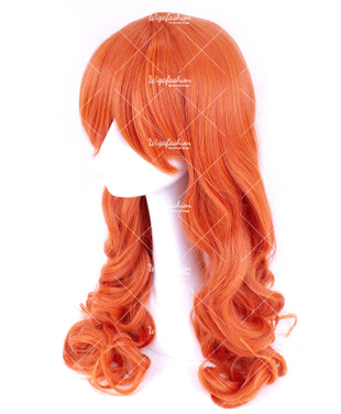 Flame Red Long Wavy 70cm