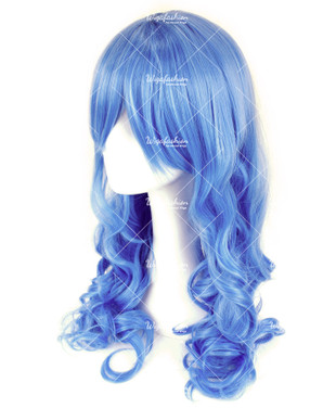 Carolina Blue Long Wavy 65cm