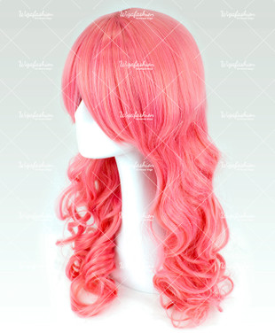 Coral Pink Long Curly 65cm