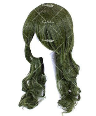 Forest Green Long Wavy 65cm