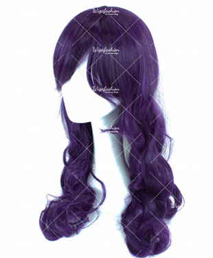 Dark Violet Long Curly 70cm