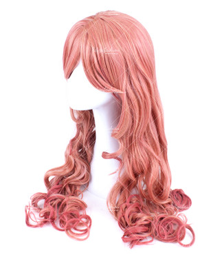 Pink Long Curly 70cm