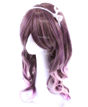 Fancy Mix Violet Medium Wavy 55cm