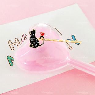 Black Kitty Bobby Pin