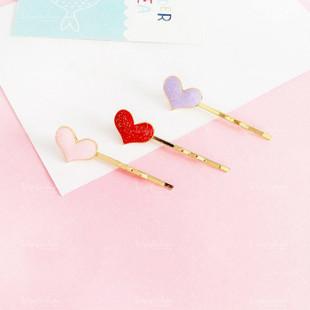 Glitter Heart Bobby Pin