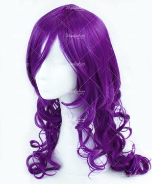 Neon Violet Long Wavy 65cm