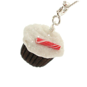 peppermint cupcake necklace by inedible jewelry