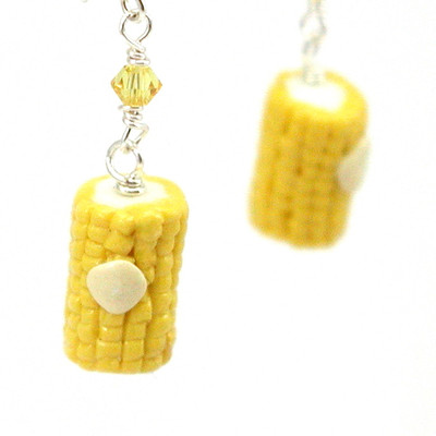 corn earrings by inedible jewelry