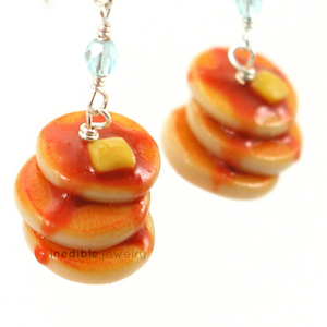 pancakes earrings