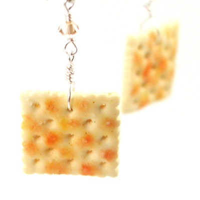 saltine earrings by inedible jewelry