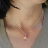 pink vanilla cake slice necklace by inedible jewelry