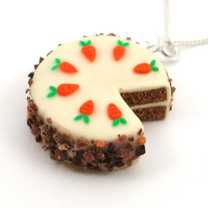 carrot cake necklace by inedible jewelry