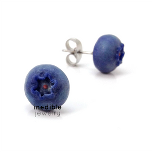 blueberry studs by inedible jewelry