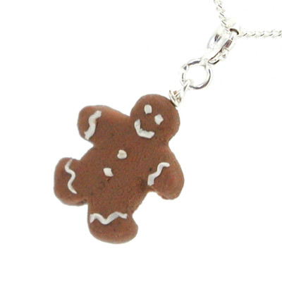 gingerbread man necklace by inedible jewelry