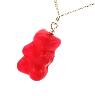 gummy bear necklace by inedible jewelry