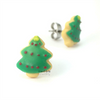 Christmas tree cookie studs by inedible jewelry