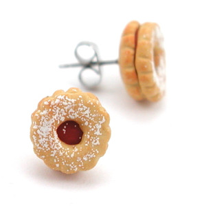 linzer tart studs by inedible jewelry