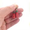 sriracha earrings by inedible jewelry