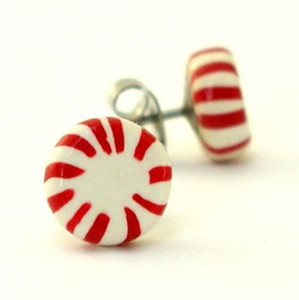 peppermint studs by inedible jewelry
