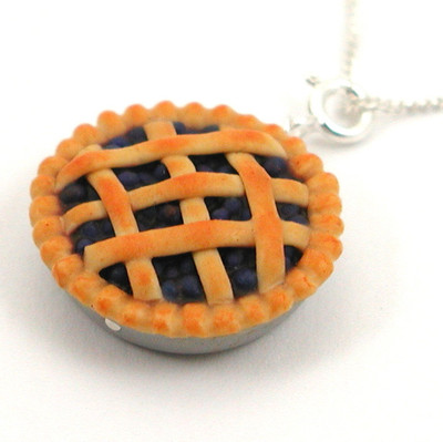 blueberry pie necklace by inedible jewelry