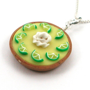 key lime pie necklace by inedible jewelry