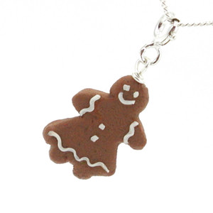 gingerbread woman necklace by inedible jewelry