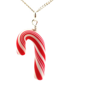 candy cane necklace by inedible jewelry