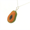 papaya necklace by inedible jewelry