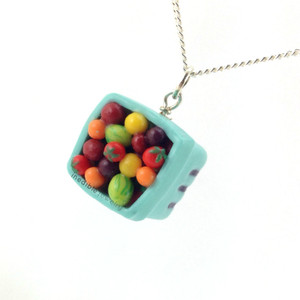 pint of cherry tomatoes necklace by inedible jewelry