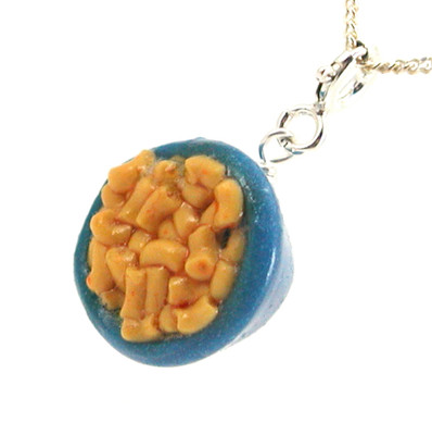 macaroni and cheese necklace by inedible jewelry