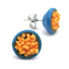 macaroni and cheese studs by inedible jewelry