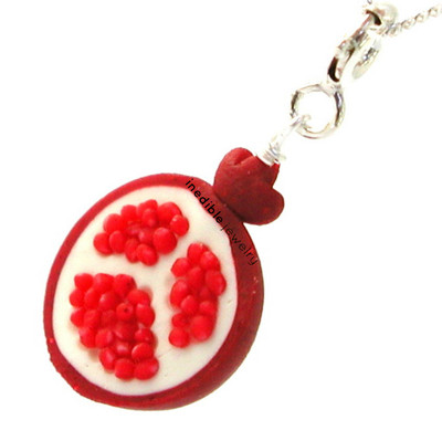 pomegranate necklace by inedible jewelry