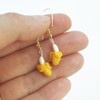 banana earrings by inedible jewelry