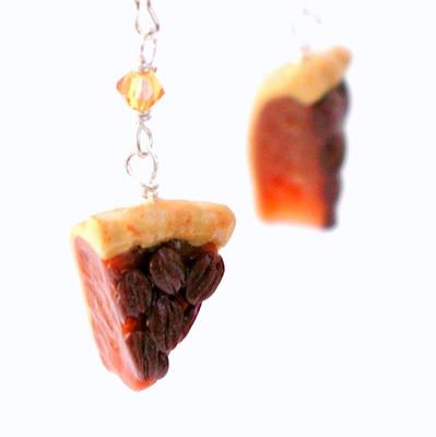 pecan pie slice earrings by inedible jewelry