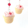 heart cupcake earrings by inedible jewelry