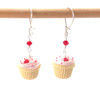 Valentine's cupcake earrings by inedible jewelry