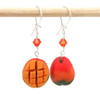 mango earrings by inedible jewelry